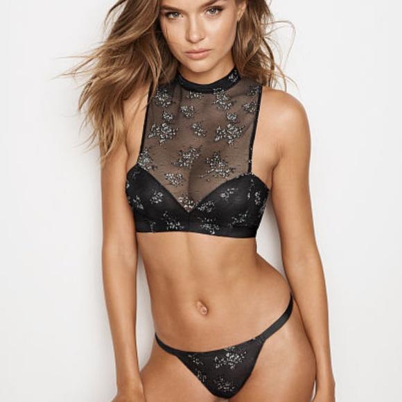 c2eb6c254f549 SEXY💖NWT VERY SEXY Shine Lace High-neck Bra💋. NWT. Victoria s Secret